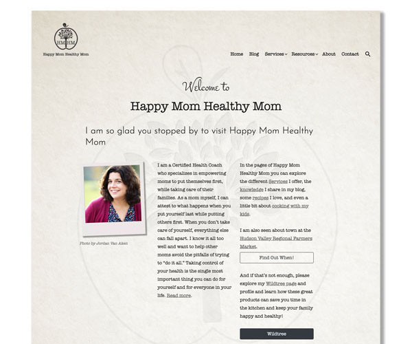 Website for Happy Mom Healthy Mom